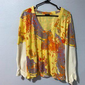 Atlein Womens Printed Long Sleeves Designer Top